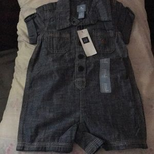 2 Baby gap one piece  jean 3-6 months.